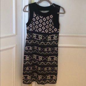 Dvf shift silk dress beautiful pattern size 2